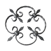 Kovářský ornament H 240 x L 240 mm, 12 x 6 mm