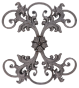 Kovářský ornament H 450 x L 405, 16x8 mm
