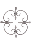 Kovářský ornament H 250 x L 250mm,20 x 4mm